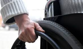 Wheelchair Wheel with Hand