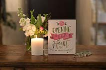 Opening Your Heart Card on Table with Candle and Flowers