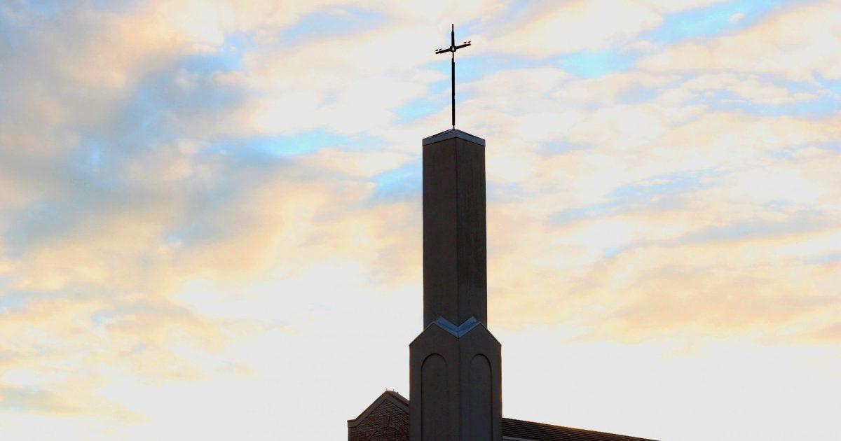 SVDP Building sunset sky