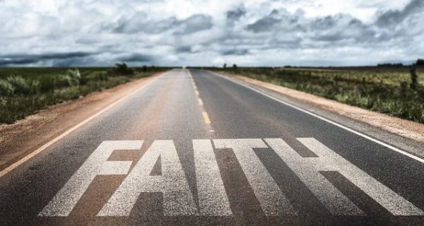 Faith Painted on Roadway