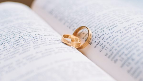 Love Rings Wedding Bible