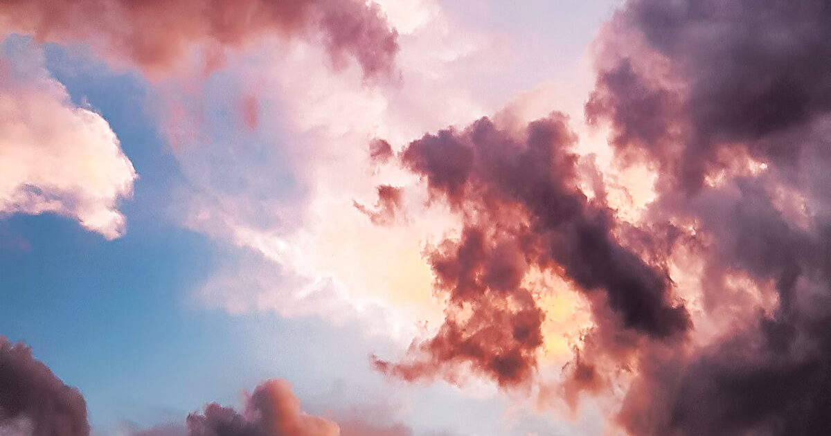 Red Clouds and Blue Sky